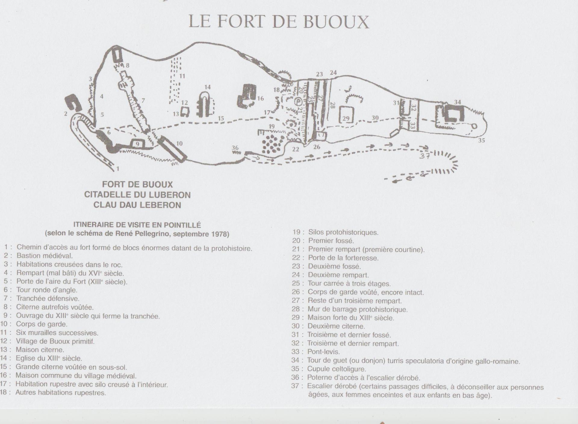 Fort de buoux photo plan du fort 001